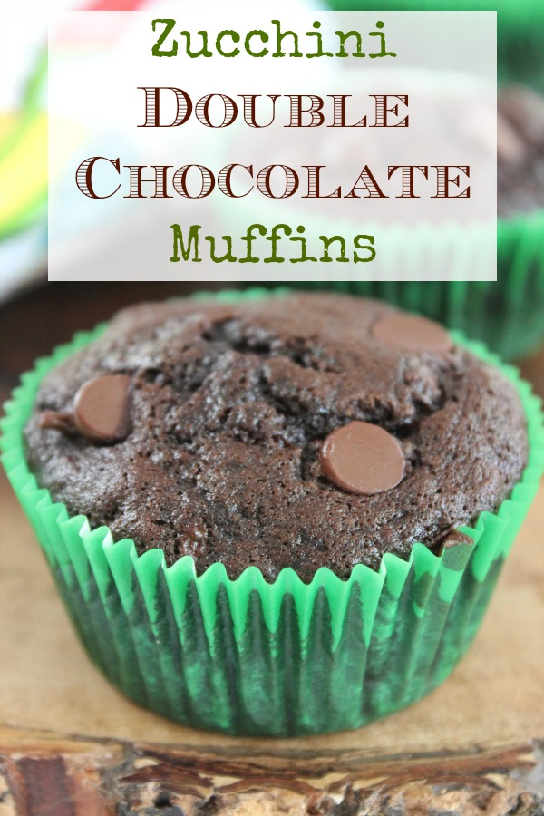 Zucchini Double Chocolate Muffins  --- yummy dessert recipe!