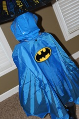 batman rain gear