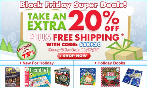 Scholastic Store: Books up to 75% off + Additional 20% off (Free Shipping)