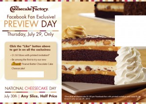 cheesecake 300x215 The Cheesecake Factory: $1.50 Slices on 7/29