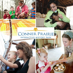 conner prairier Conner Prairie: $22 for 4 Daytime General Admission Tickets + Family Deals in Your Area