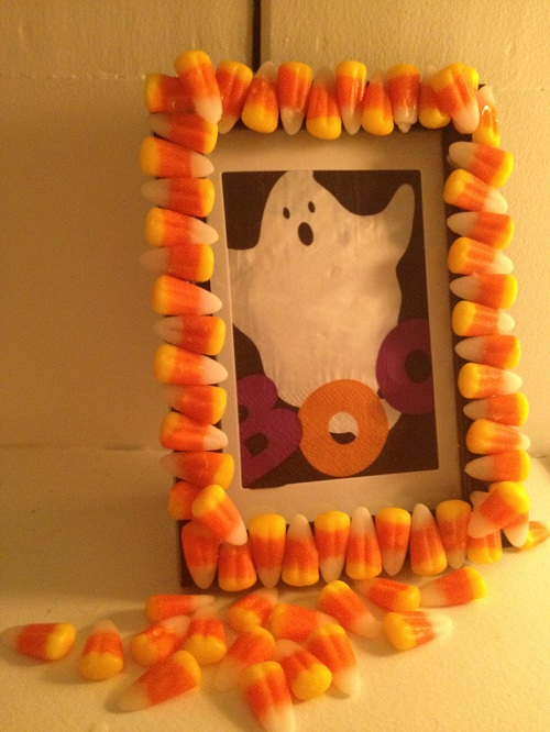 creepy candy corn frame
