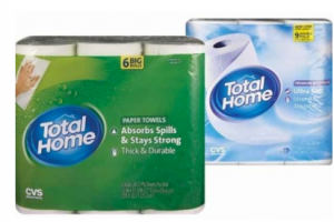 $1/1 Total Home Bath Tissue & Paper Towel Coupons = Great deal at CVS