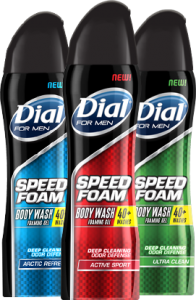 dial speed foam for men 196x300 Dial Speed Foam Body Wash Printable Coupon   Save $1