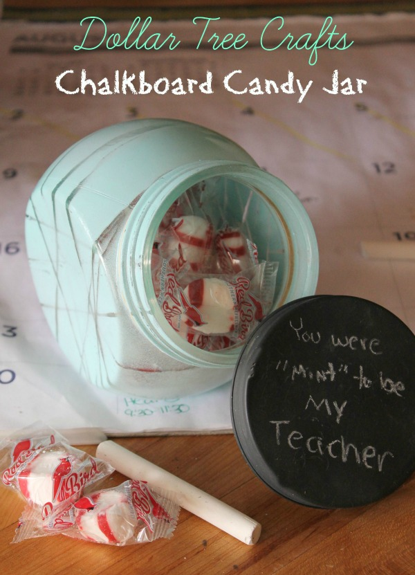 Chalkboard Candy Jar Dollar Crafts For Kids Bargainbriana
