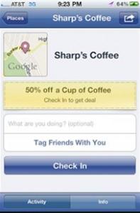 facebook places deals
