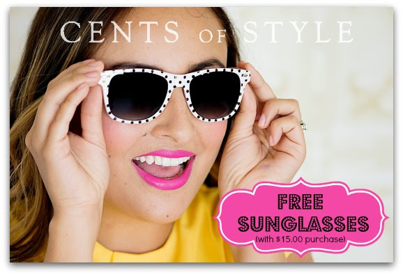 free sunglasses with order cents of style
