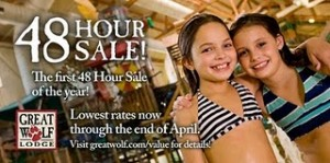 great wolf lodge 300x149 Great Wolf Lodge 48 Hour Sale