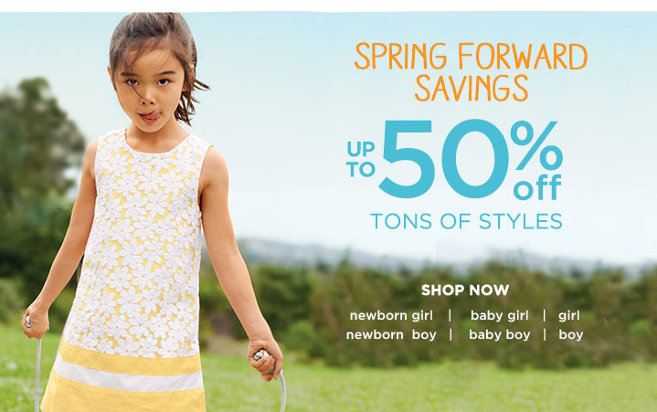 gymboree spring forward sale