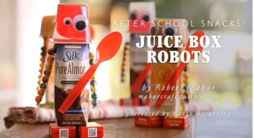 After School Snacks: Juice Box Robots