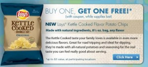 lays kettle cooked 300x137 B1G1 FREE Lays Kettle Cooked Potato Chips Coupon