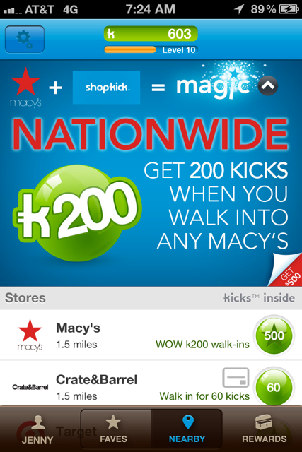 ShopKick + Macy's = Great Deals!