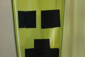 Minecraft Creeper Night Light :: Dollar Store Crafts