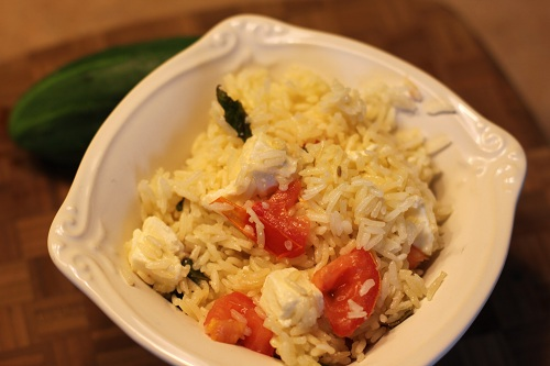 mozzarella tomato rice