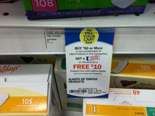 Meijer: P&G $10 Prepaid Card Mail in Rebate
