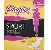 $4/1 Playtex Sport Pads 36 count or Pads Liners Combo Packs 32-48 count coupon = $0.99 at CVS
