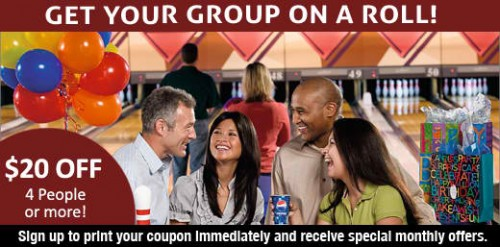 AMF Bowling eClub $20 Off Coupon for Four People