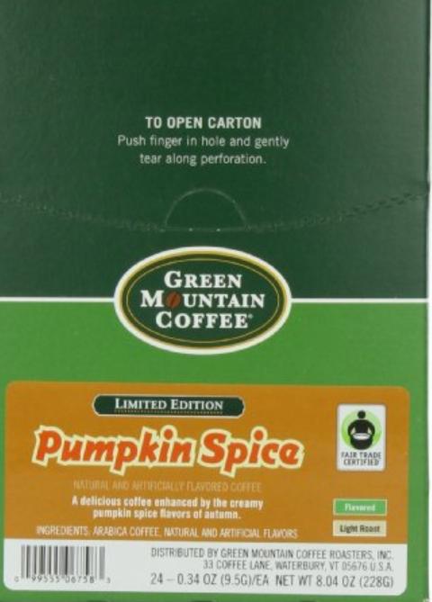 pumpkin spice k cups