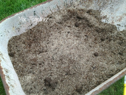 raised garden soil mixed together