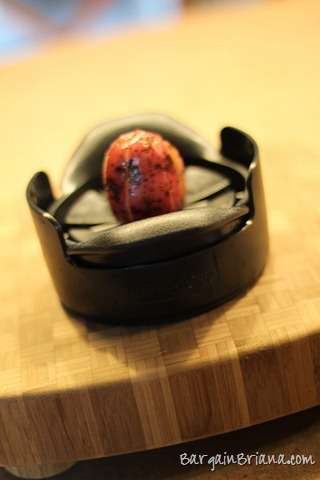 red potato on wedger