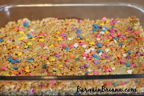 rice krispies in pan