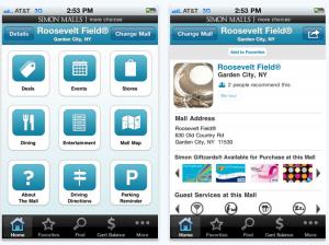 simon malls iphone app