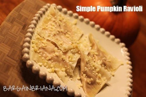 simple pumpkin ravioli