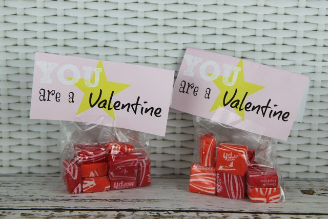 starbust valentines day card idea