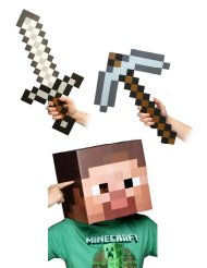 steve head and sword Minecraft Costume Ideas for Halloween