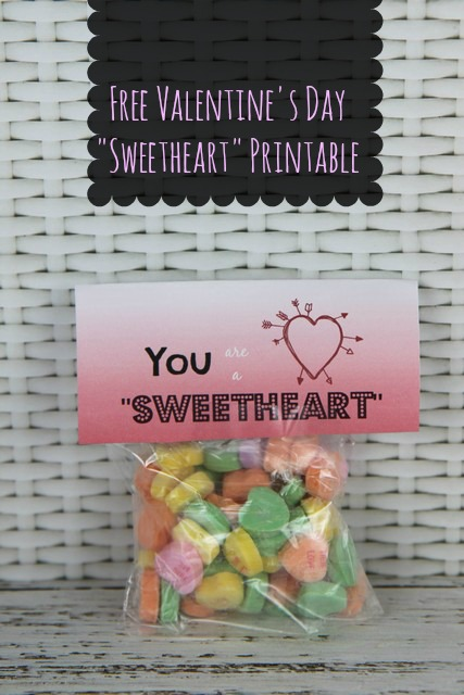 sweatheart candy valentines day card idea free printable