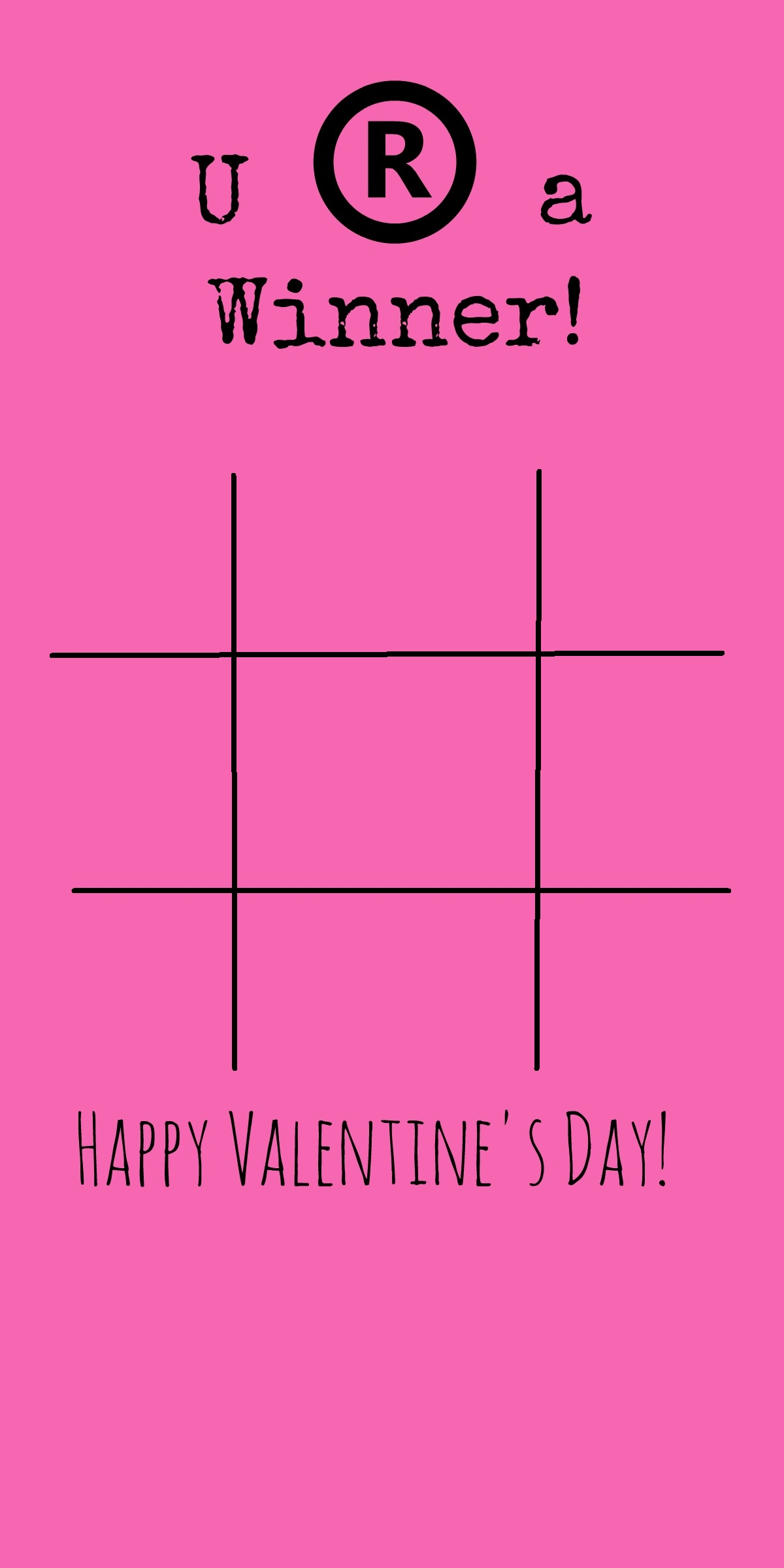 image regarding Free Printable Tic Tac Toe Board named Tic Tac Toe Recreation Board Valentines Working day Card Principle - BargainBriana