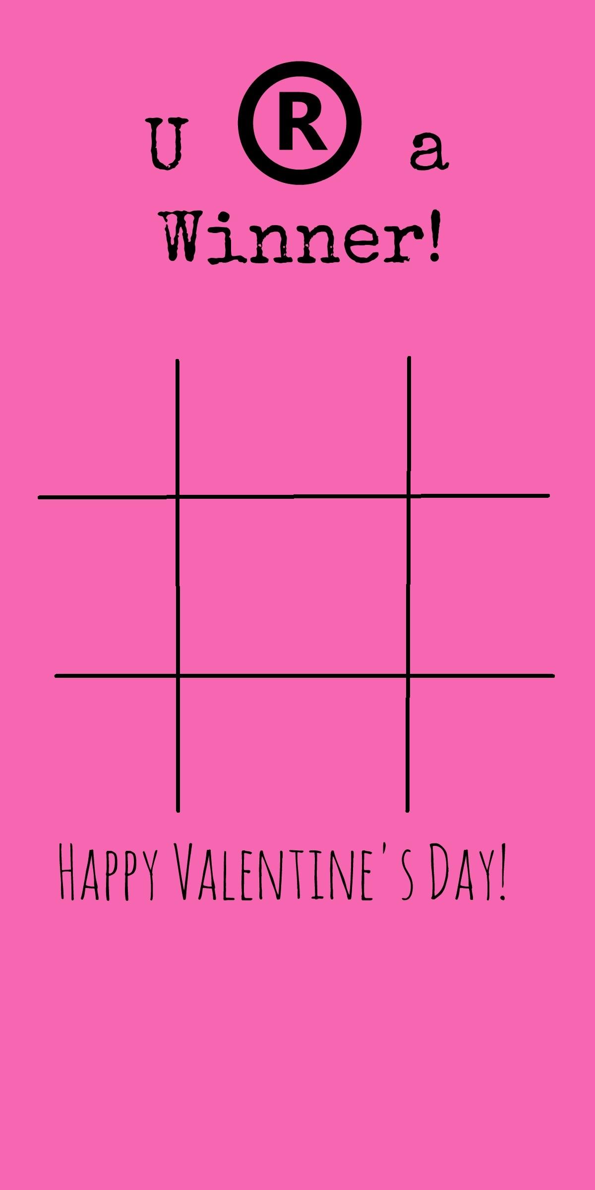 Tic Tac Toe Game Board Valentines Day Card Idea  BargainBriana