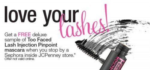 Free Too Faced Mascara at JCPenny