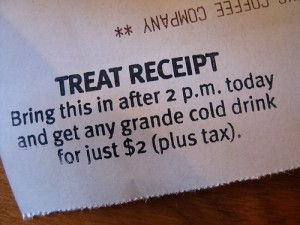 treat 300x225 Starbucks: Treat Receipt deal is Back!