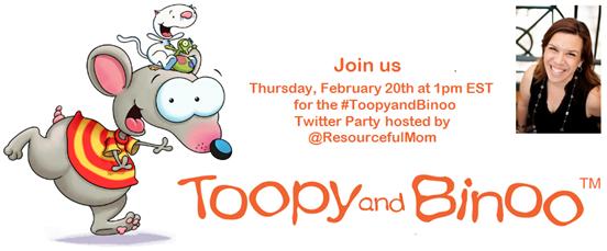 twitter party toopyandbinoo