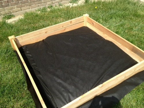weed mat for raised garden bed