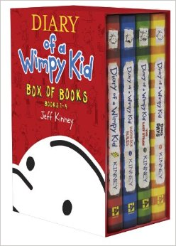 wimpy kid box of books
