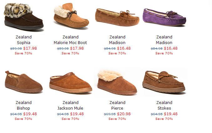 Zealand Slippers - 70% off + Free